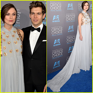 Keira Knightley Keeps Her Baby Bump Covered at the Critics Choice Awards 2015