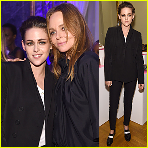Kristen Stewart Slicks Her Hair Back For Stella McCartney Presentation