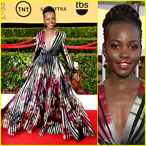 Lupita Nyong'o Made an Epic SAG Awards Red Carpet Entrance