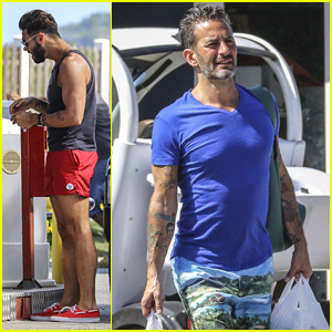 Marc Jacobs & Boyfriend Lorenzo Martone Stop for Snacks