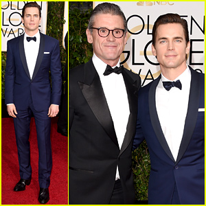 Matt Bomer & His Husband Simon Halls Walk the Red Carpet at the Golden Globes 2015!
