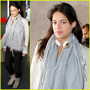 Michelle Rodriguez Puts All Drama Aside to Fly to Paris