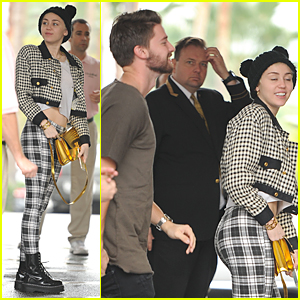 Miley Cyrus & Patrick Schwarzenegger Continue Golden Globes Weekend at Beverly Hills Hotel