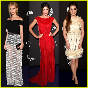 Transformers' Nicola Peltz Stuns in See Through Dress at Golden Globes Party 2015