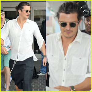 Orlando Bloom Makes Quick LAX Drop Off Before Hitting Up the Gym!