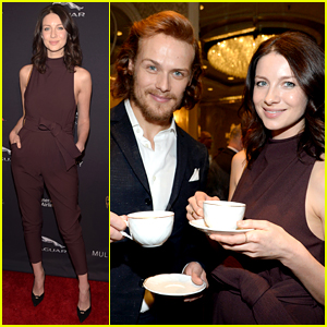 Outlander's Sam Heughan & Caitriona Balfe Drink Tea Together!