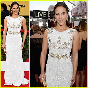 Paula Patton Looks White Hot at SAG Awards 2015