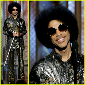 Prince Makes Surprise Appearance at Golden Globes 2015!