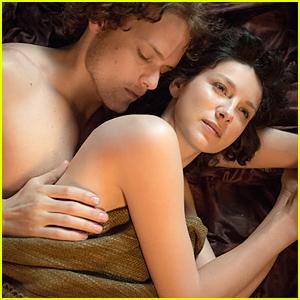 Shirtless Sam Heughan & Caitriona Balfe Make Love in 'Outlander' Still & Trailer - Watch Now!
