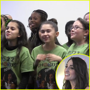 Sara Bareilles is Serenaded with 'Brave' by PS22 Chorus (Video)