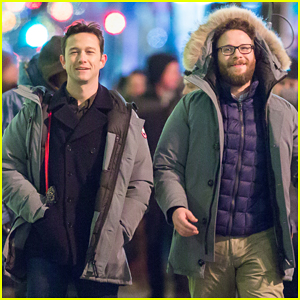 Seth Rogen & Joseph Gordon-Levitt Begin Filming 'Untitled Christmas Eve Project' in Rockefeller Center!
