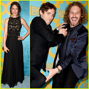 'Silicon Valley' Boys T.J. Miller & Thomas Middleditch Have Some Fun at HBO's Golden Globes After Party 2015!