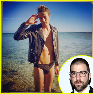 Zachary Quinto Spends Exotic New Year's Eve with Speedo-Clad Boyfriend Miles McMillan