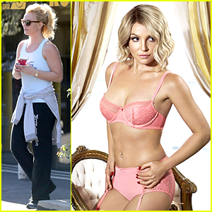 Britney Spears Strips Down to Sexy Lingerie For Intimate Collections Ad