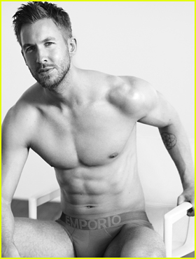 Calvin Harris Strips Down to His Underwear in New 'Emporio Armani' Ads - See the Pics Here!