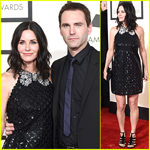 Courteney Cox & Johnny McDaid Support Ed Sheeran at Grammys 2015