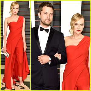 Diane Kruger & Joshua Jackson Are Red Hot Couple at Vanity Fair Oscar Party 2015