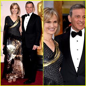 Disney CEO Bob Iger's Wife Wore a Yoda Dress to Oscars 2015