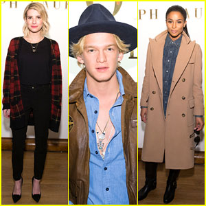 Emma Roberts & Cody Simpson Hit Up New York Fashion Week