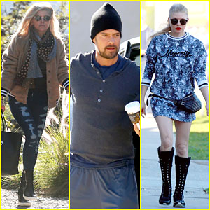 Fergie Hits the Studio While Josh Duhamel Goes to the Gym
