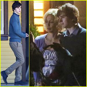 Freddie Highmore & Vera Farmiga Film 'Bates Motel' Ahead of Season 3 Premiere