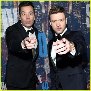 Justin Timberlake & Jimmy Fallon Arrive for 'SNL 40' Red Carpet!