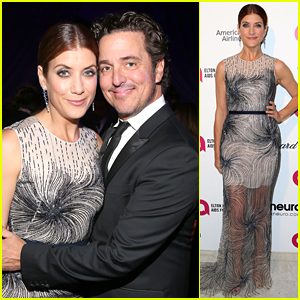 Kate Walsh Cozies Up to Boyfriend Chris Case at Oscars Party!