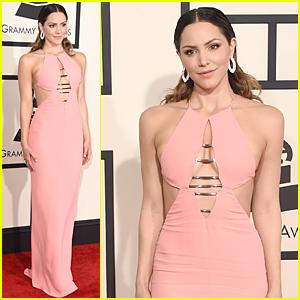 Katharine McPhee Rocks Sexy Pink Dress at Grammys 2015 Debut