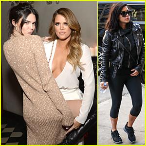 Kendall Jenner Wraps Her Leg Around Khloe Kardashian Like She Just Don't Care