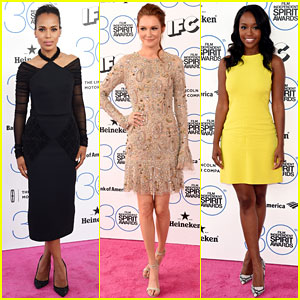 Kerry Washington & Darby Stanchfield Are ShondaLand Ladies at Spirit Awards 2015