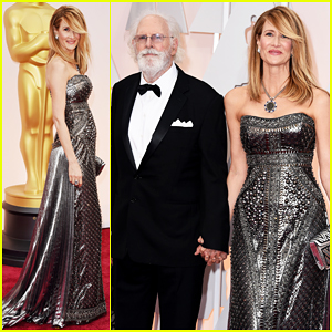 Laura Dern Gets Support from Father Bruce on Oscars 2015 Red Carpet!