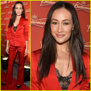 Maggie Q Celebrates the Chinese New Year in Time Square