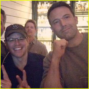 Ben Affleck & Matt Damon Celebrate Patriots Super Bowl 2015 Win!