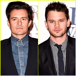 Orlando Bloom & Jeremy Irvine Bring the Handsome to BRIT Awards 2015