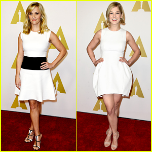 Reese Witherspoon & Rosamund Pike Are White Hot at Oscar Nominees Luncheon!