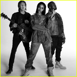 Rihanna's 'FourFiveSeconds' Music Video with Kanye West & Paul McCartney - WATCH NOW!
