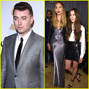 Sam Smith & Haim Represent the Best New Artist Category at Pre-Grammy Party