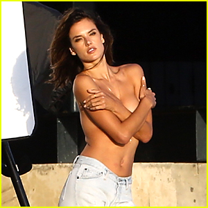 Alessandra Ambrosio Goes Topless for Beach Photo Shoot!