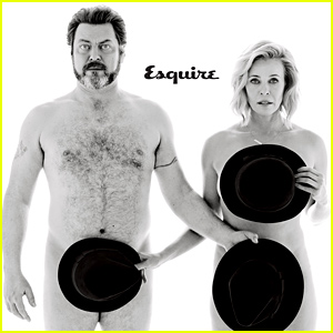 Chelsea Handler & Nick Offerman Talk Bill Cosby Encounters, Sex, & More For Naked 'Esquire' Spread
