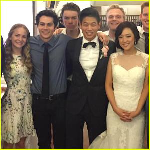 Dylan O'Brien & Britt Robertson Couple Up at Ki Hong Lee's Wedding!