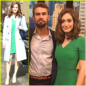Emmy Rossum Imitates New Neighbor Justin Bieber - Watch Now