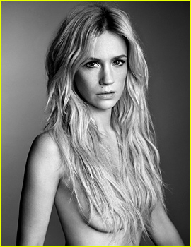 January Jones Poses Topless For 'Before & After' Photo Shoot with 'Violet Grey'!