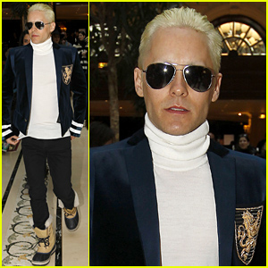 Jared Leto Debuts Platinum Blonde, Short Hair Look (Photos)