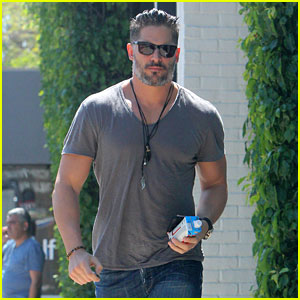 Joe Manganiello Shows Off His Pecs During a Shopping Trip