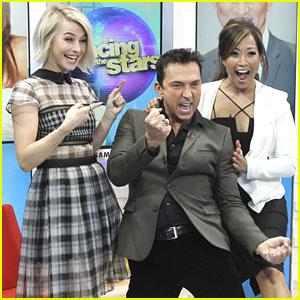 Julianne Hough, Carrie Ann Inaba & Bruno Tonioli Talk 'DWTS' on 'GMA'