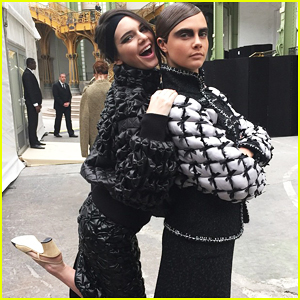 Kendall Jenner & Cara Delevingne Partner Up to Hit the Runway at Paris Fashion Week!