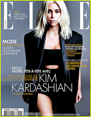 Kim Kardashian's Platinum Blonde Hair Looks Amazing on 'Elle France' April 2015 Cover
