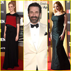 January Jones, Jon Hamm & the 'Mad Men' Cast Have a Ball