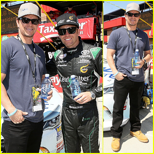 Mark Wahlberg Rides with Blake Koch at Drive4Clots 300!