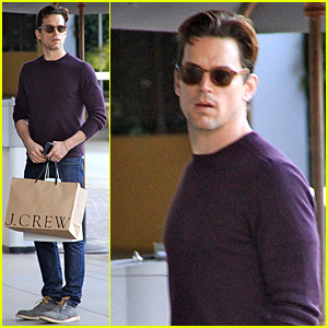 Matt Bomer Stocks Up on J. Crew Clothes at The Grove